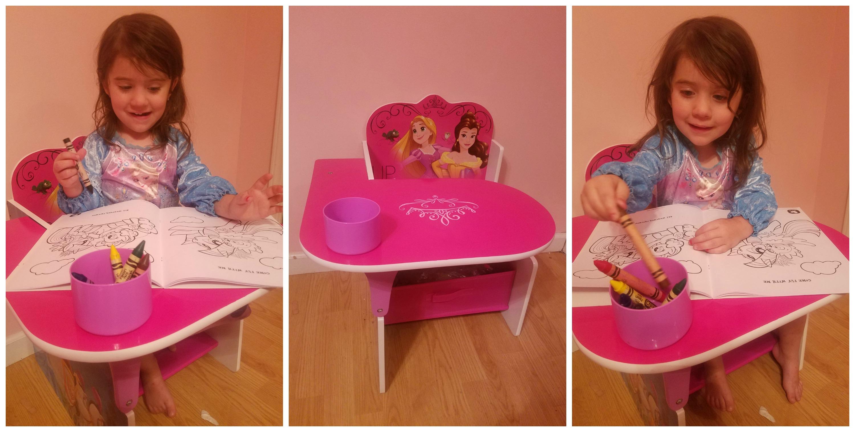 Princess Chair Desk With Storage Bin From Delta Children