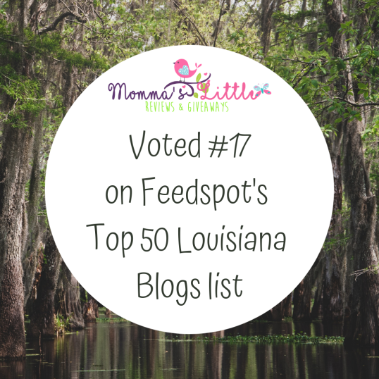 Voted #17 on Feedspot's Top 50 Louisiana blogs list.png