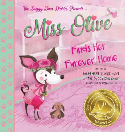 Miss Olive Furever Home Book Cover with Medallion
